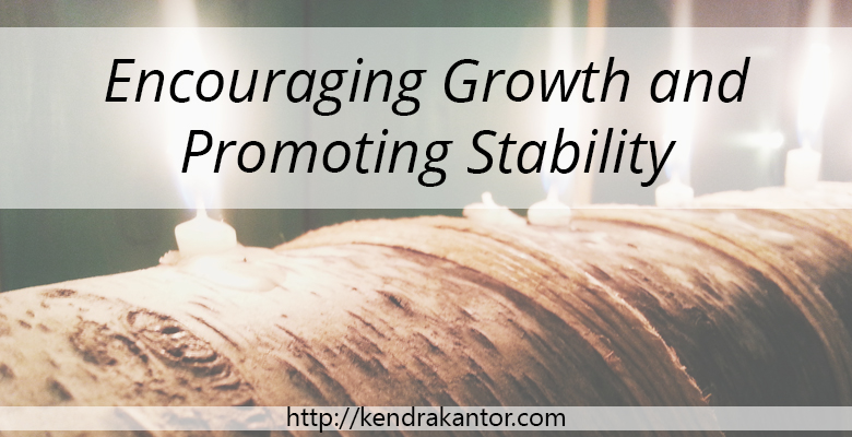 Encouraging Growth and Promoting Stability: words for 2015 by Kendra Kantor