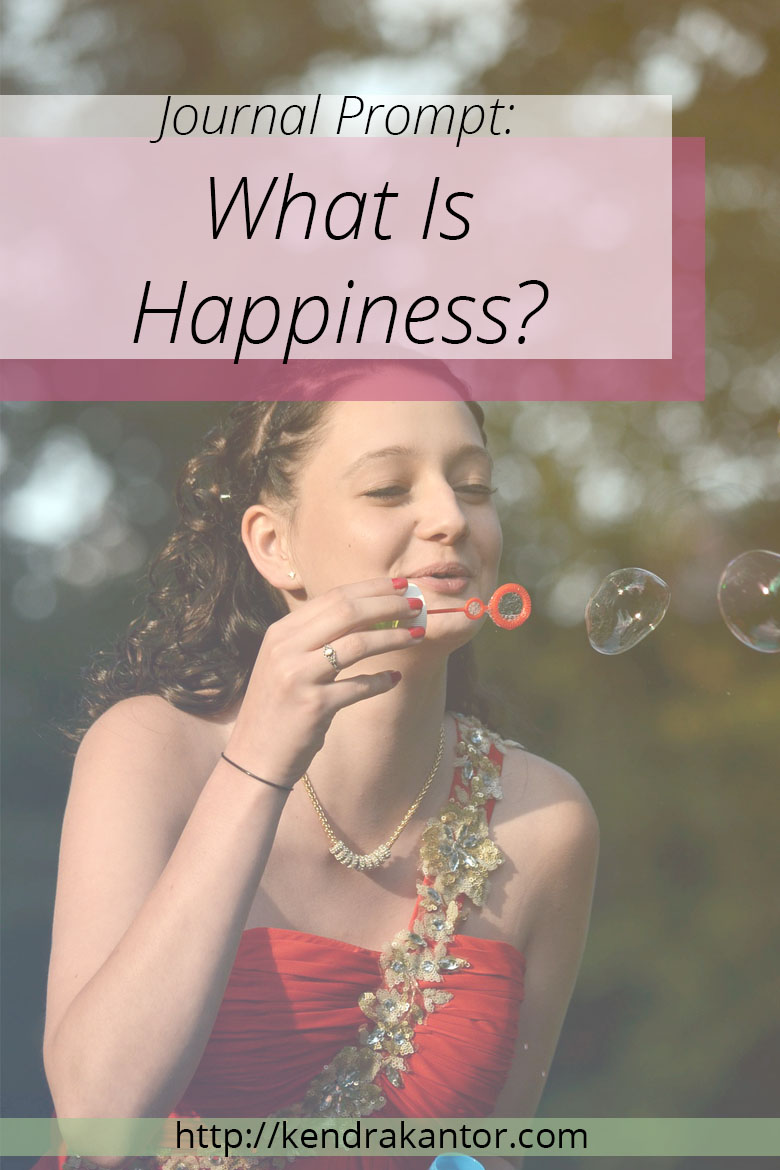 Happiness Is...Journal Prompt by Kendra Kantor | http://kendrakantor.com