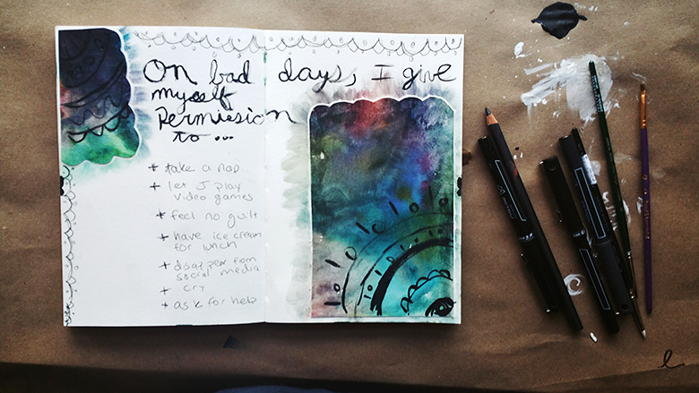 Journal Prompt: Bad Day Permission Slip by Kendra Kantor | http://kendrakantor.com